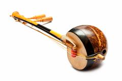 Thai fiddle bass sounded string music instrument Stock Photos