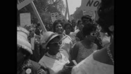 American protesters marching during Civil Rights March Stock Footage