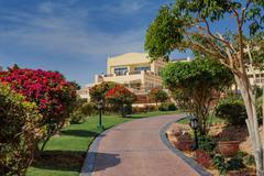 Stock Photo of hotel building park, sharm el sheikh, egypt