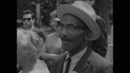 American protester smoking during Civil Rights March Stock Footage