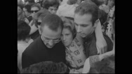 American protesters carrying sick women during Civil Rights March Stock Footage