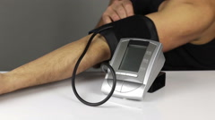 Blood pressure control Stock Footage