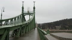 Freedom or Liberty bridge in Budapest taken from the right side Arkistovideo