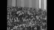 Martin Luther King Jr leaving rally after delivering the speech Stock Footage