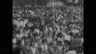 American protesters singing during Civil Rights March Stock Footage