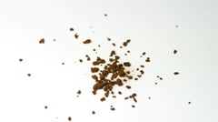 Instant coffee powder Stock Footage