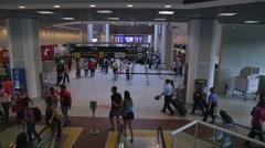 Escalator View on Santos Dumont Airport in Rio de Janeiro. Stock Footage