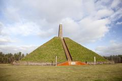 Pyramid of austerlitz on utrechtse heuvelrug Stock Photos
