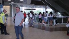 Lounge on Santos Dumont Airport in Rio de Janeiro. Stock Footage