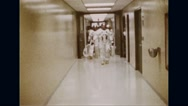 Astronauts in space suit departing for Apollo 11 space mission Stock Footage