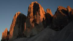 Sunset time lapse tre cime de lavaredo close2 11580 Stock Footage