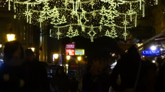 People shopping for the christmas holidays in the famous Vatica street - stock footage