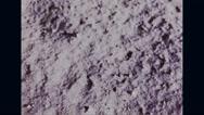 Apollo 11 astronaut footprint on moon surface Stock Footage