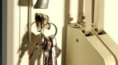 4K Closing Opening Door Close Up 1 - stock footage