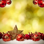 funds with traditional christmas decoration and christmas holidays - stock photo