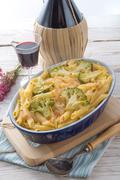 Pasta Casserole with vegetables - stock photo