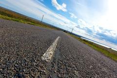 Asphalt road Stock Photos
