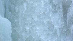Frozen ice water fall Stock Footage