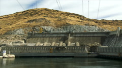 Grand Coulee Dam in Eastern Washington Stock Footage