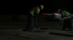 Road Construction Jackhammer Stock Footage