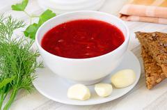 Stock Photo of red borsch