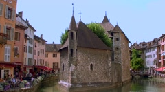 Annency, Palais de Isle, the old jail 005 Stock Footage