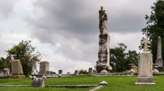 Springwood Cemetery Time Lapse Video - stock footage