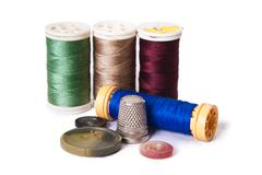 stitching yarns - stock photo