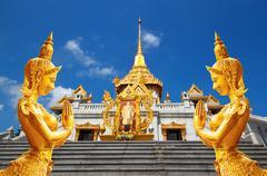 Thailand bangkok travel , wat trimit is major tourist destination , bangkok t Stock Photos