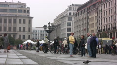 Tourists in Gendarmenmarkt square in central Berlin Stock Footage