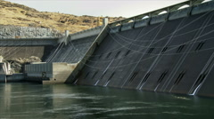 Grand Coulee Dam and Reservoir Stock Footage