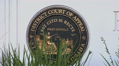 Florida First District Court Of Appeal Seal Stock Footage