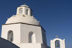 Church in Thira. Stock Photos