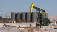 Stock Video Footage of fracking pumpjacks