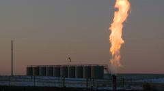 Fracking gas flare Arkistovideo