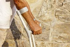 Crutches Stock Photos