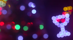 Christmas holidays lights blinking out of focus background Stock Footage
