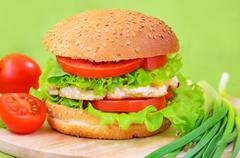 burger fast food - stock photo