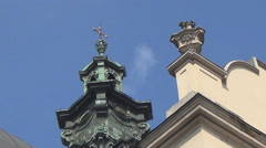Lviv architecture, church Stock Footage