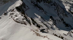 Aerial snow mountain ridgeline Stock Footage