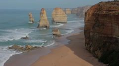The 12 Apostles great ocean road. HD - stock footage