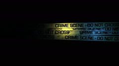 Crime Scene - Do Not Enter HD -Loop Stock Footage