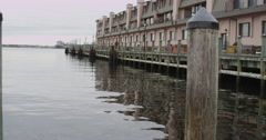 Waterfront Apartments Stock Footage