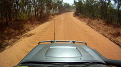 POV 4wd driving in the australian outback. HD Stock Footage