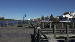 The river walk, boardwalk, wilmington, nc, usa Stock Footage