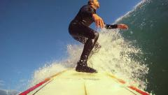 Surfing pov. HD Slow Motion Stock Footage
