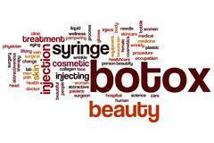 botox word cloud - stock illustration