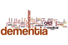 Stock Illustration of dementia word cloud