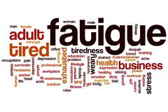 Fatigue word cloud Stock Illustration