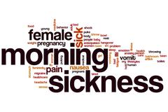 morning sickness word cloud - stock illustration